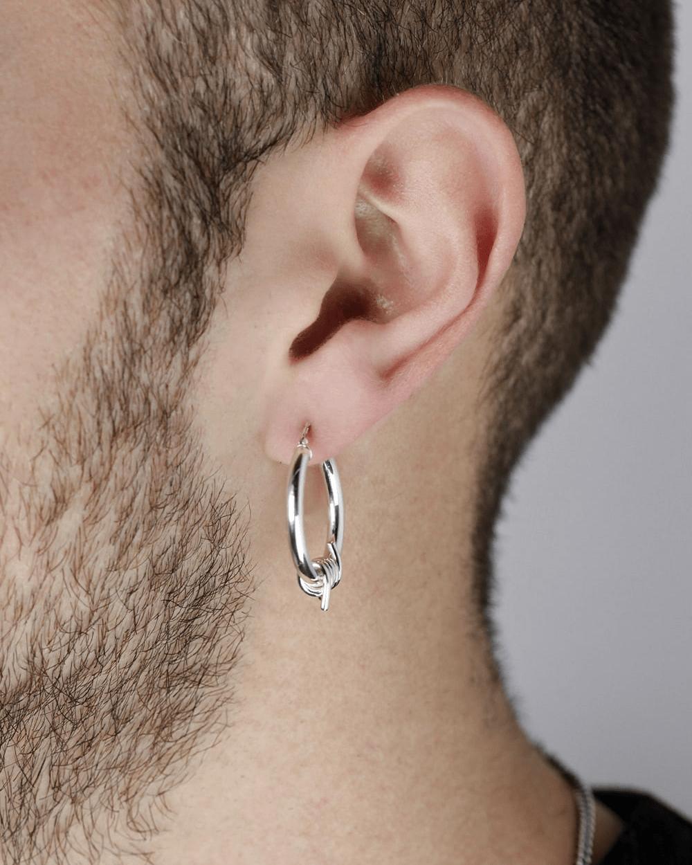 Earrings BARBED WIRE HOOP PAIR EARRINGS NOVE25