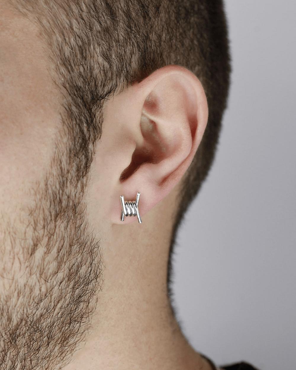 Earrings BARBED WIRE LOBE SINGLE EARRING NOVE25