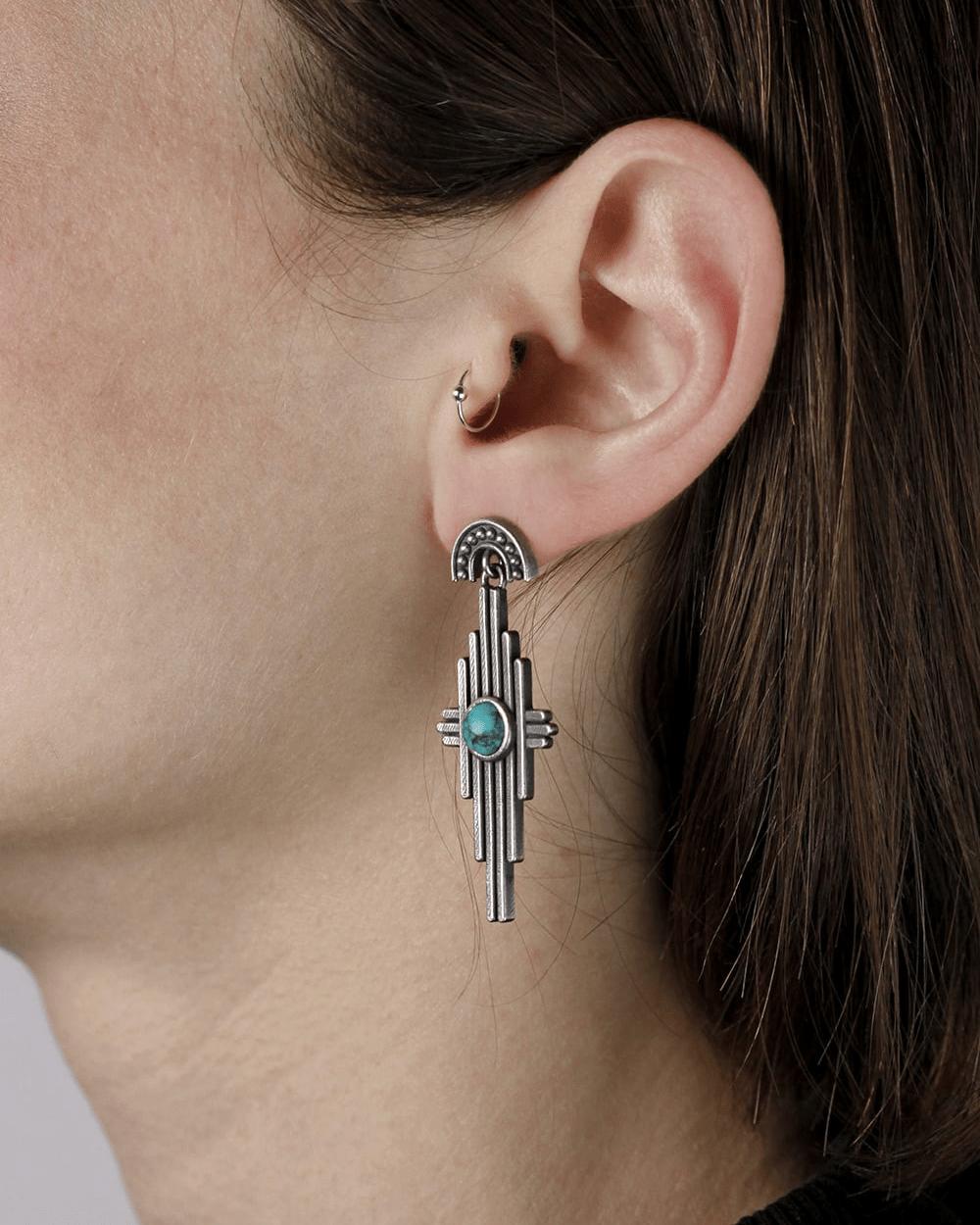 Earrings RAYS TURQUOISE PAIR EARRINGS NOVE25