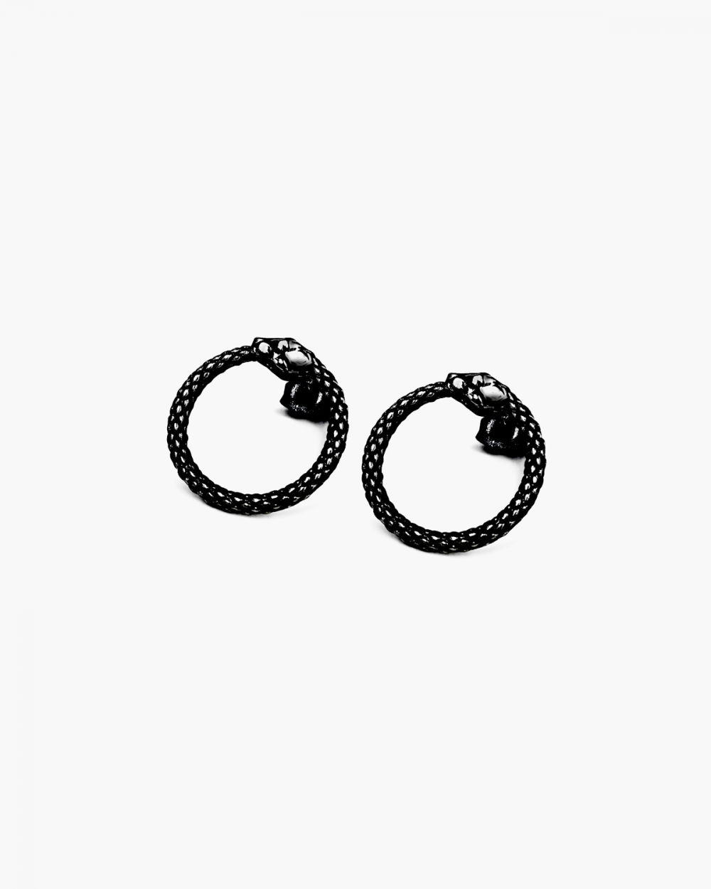 Earrings RUTHENIUM OUROBOROS PAIR EARRINGS NOVE25