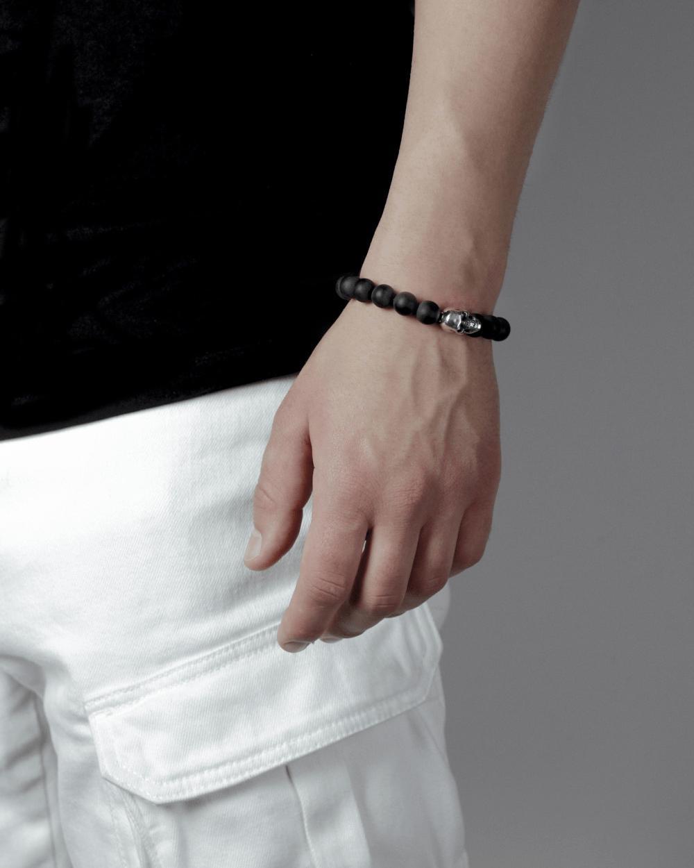 Bracelets ONYX & SMALL SKULL BRACELET NOVE25