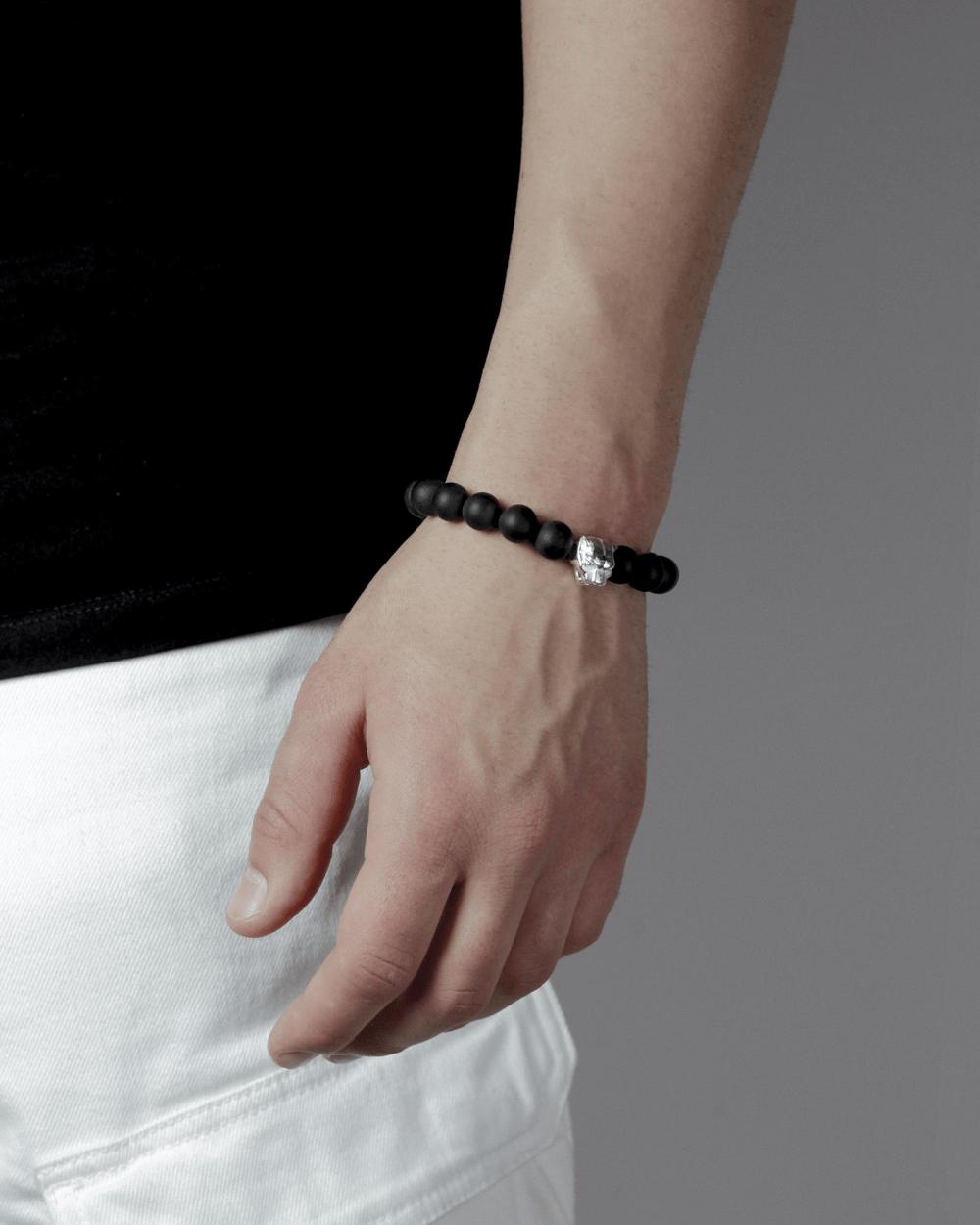 Bracelets ONYX & SILVER PANTHER BRACELET NOVE25