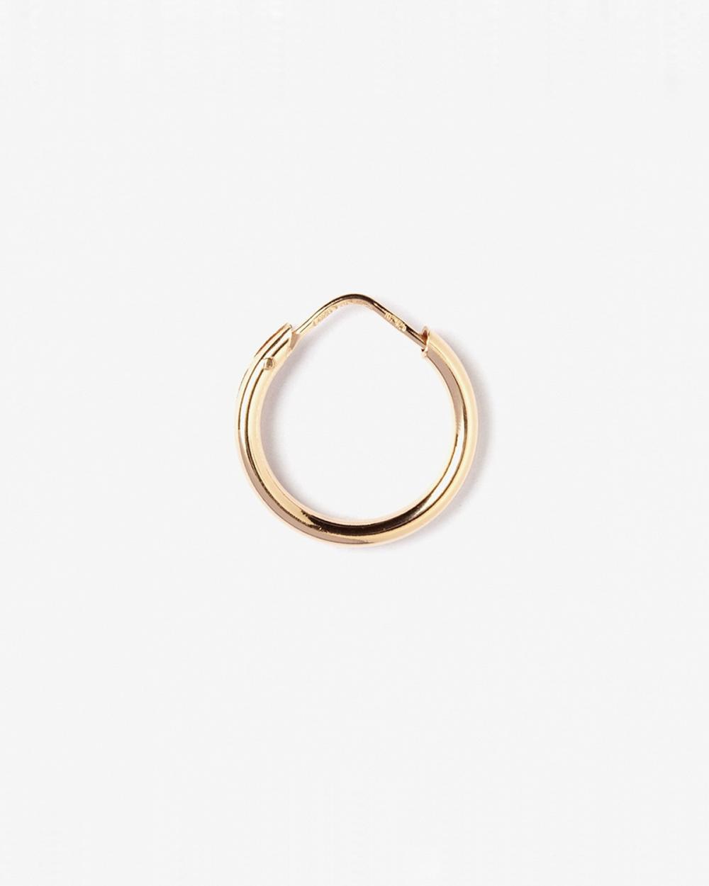 orecchino singolo cerchio impernato filo tondo 25 15mm oro rosa lucido