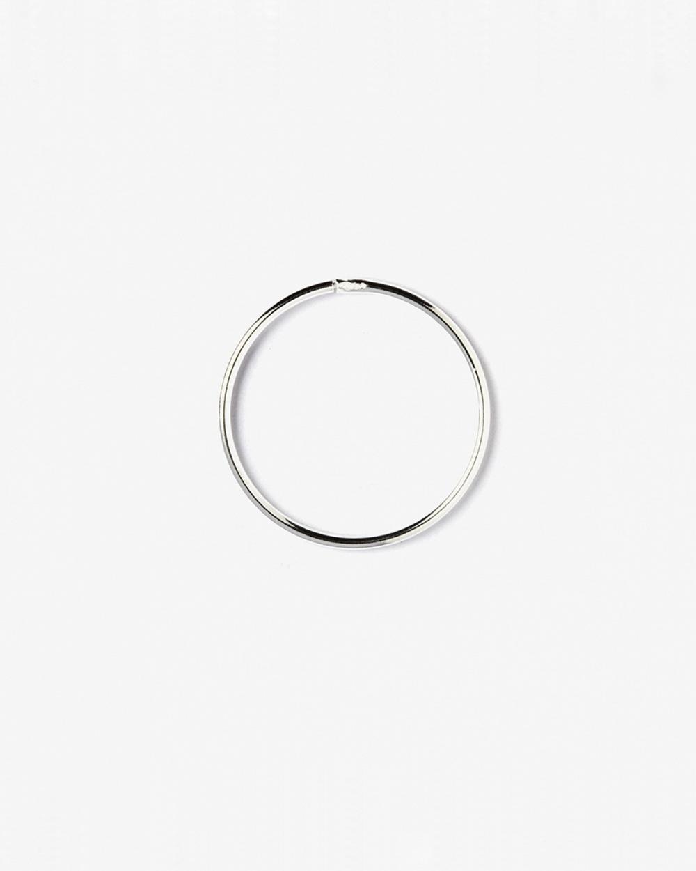 mini single hoop earring 012 d20 mm polished silver