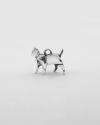 charms origami gatto lealta galvanica rodio lucido