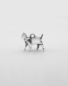 origami cat loyalty charm polished rhodium plated