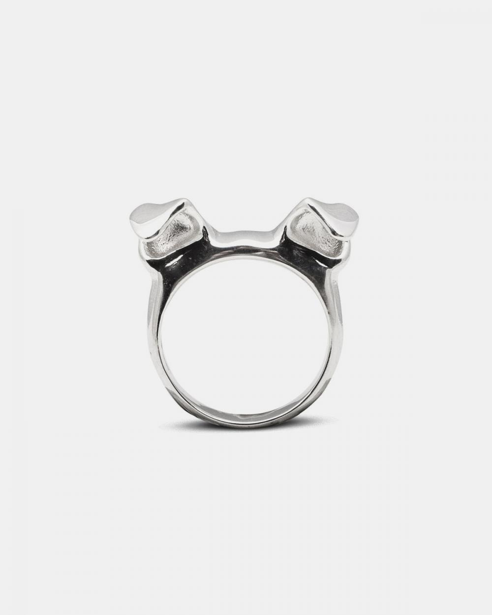 fedina orecchie cane argento lucido