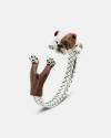 bracciale hug bulldog inglese smalto