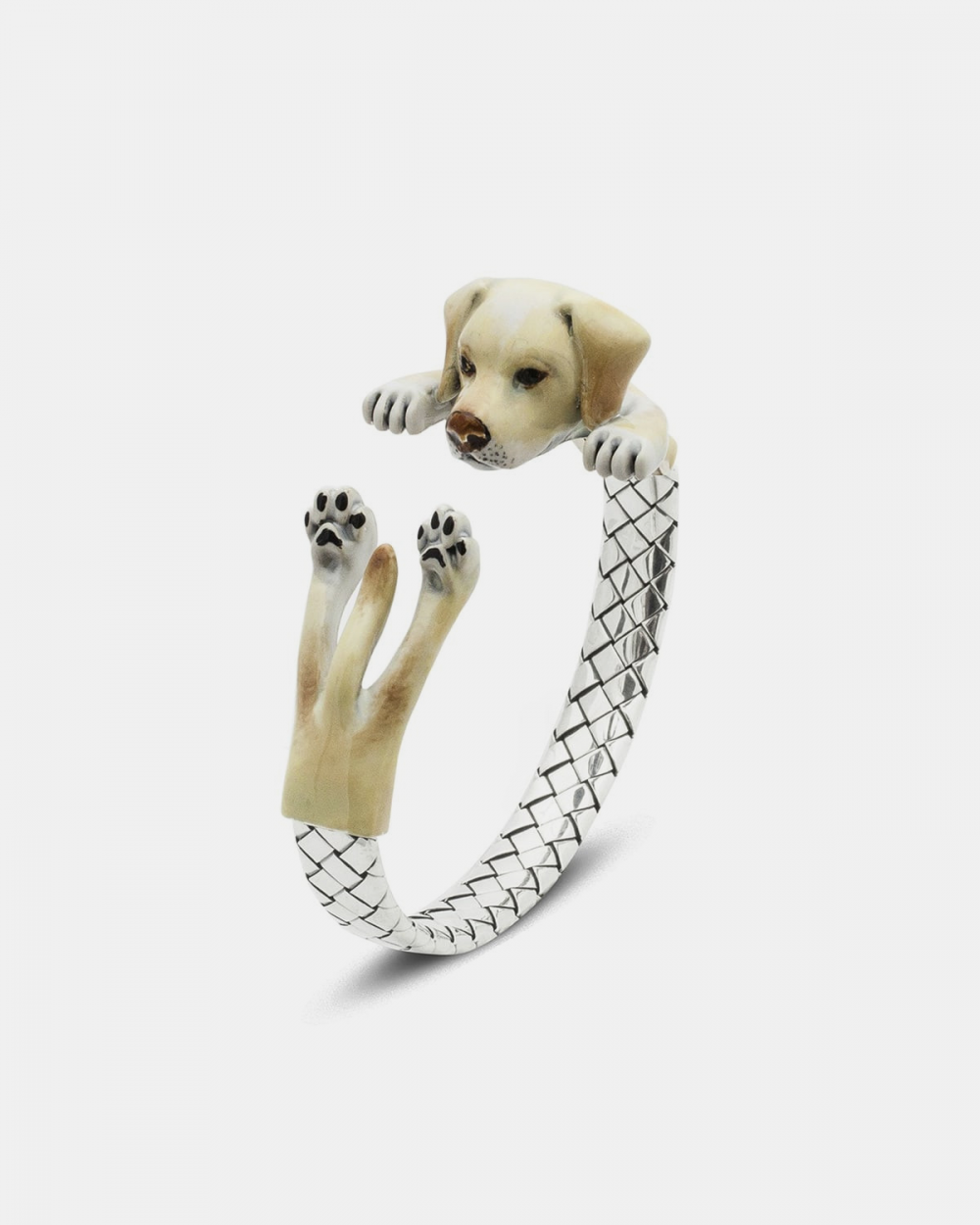 bracciale hug labrador retriever smalto