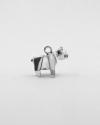 charms origami cane rispetto rodio lucido