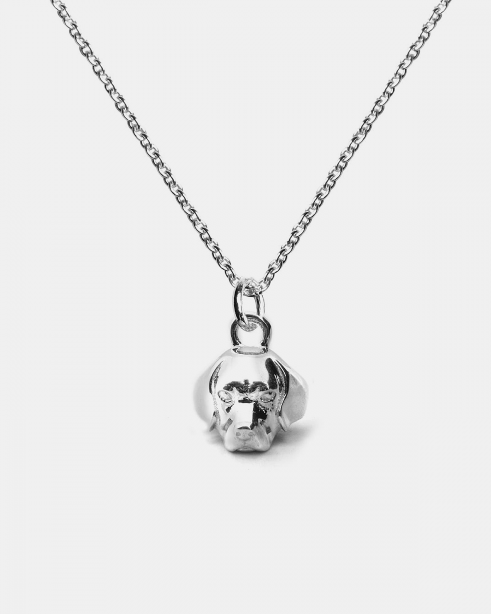 Necklaces BEAGLE PENDANT NECKLACE F040 L60 / POLISHED SILVER NOVE25