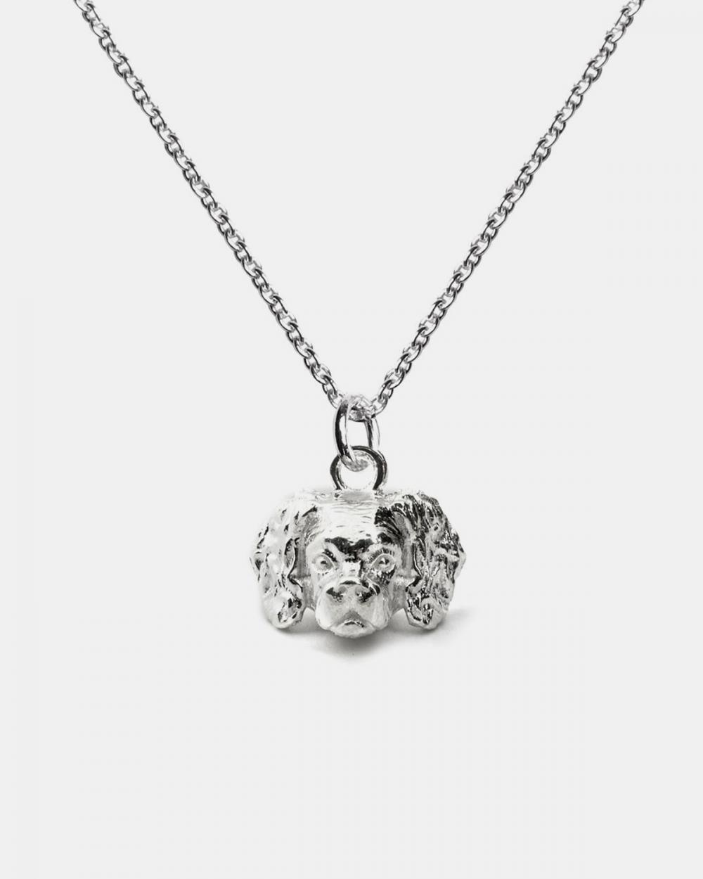Necklaces CAVALIER KING PENDANT NECKLACE F040 L60 / POLISHED SILVER NOVE25