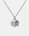 collana pendente cavalier king argento lucido