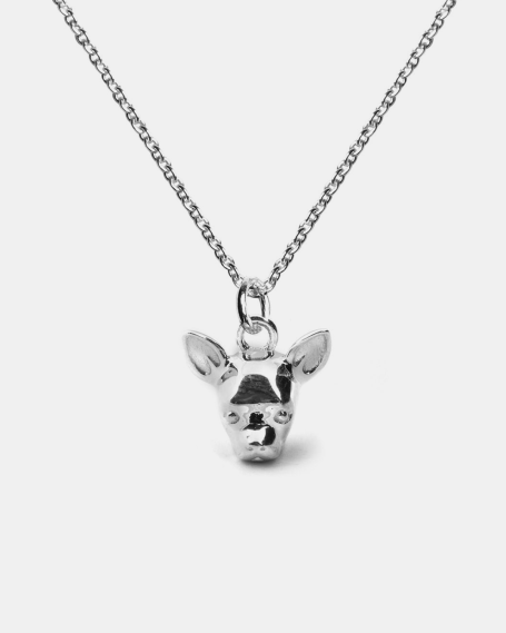 CHIHUAHUA PENDANT NECKLACE F040 L60 / POLISHED SILVER