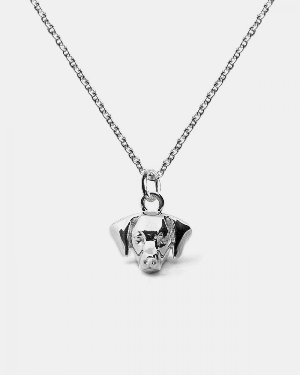 Necklaces WEIMARANER PENDANT NECKLACE F040 L60 / POLISHED SILVER NOVE25