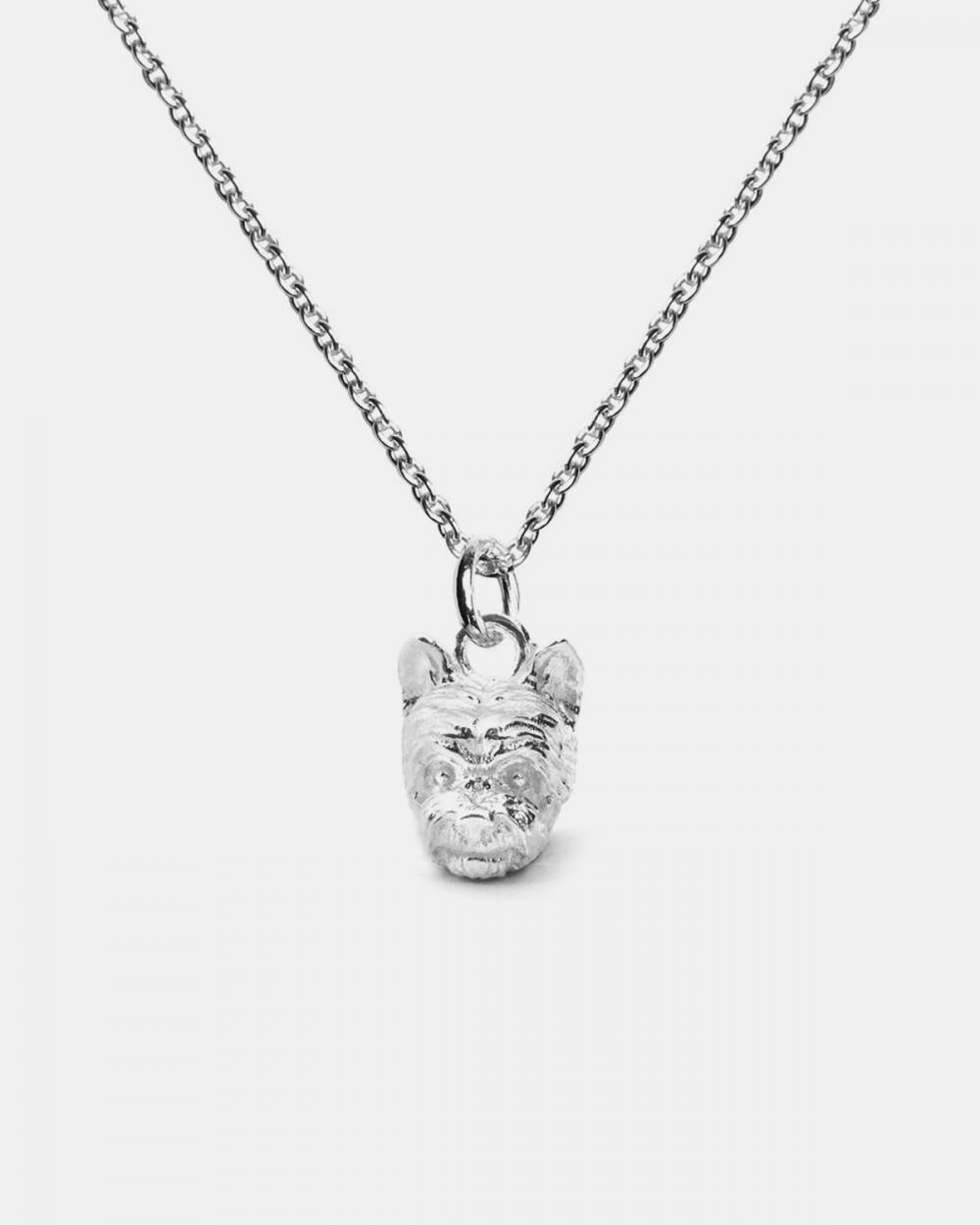 collana pendente yorkshire argento lucido