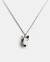 bull terrier pendant necklace f040 l60 enamelled