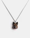 german sheperd pendant necklace f040 l60 enamelled