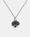dachshund pendant necklace f040 l60 enamelled