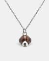 beagle pendant necklace f040 l60 enamelled