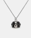 cavalier king pendant necklace f040 l60 enamelled