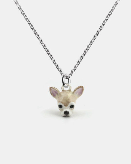 CHIHUAHUA PENDANT NECKLACE F040 L60 / ENAMELLED