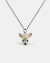 chihuahua pendant necklace f040 l60 enamelled
