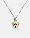 golden retriever pendant necklace f040 l60 enamelled