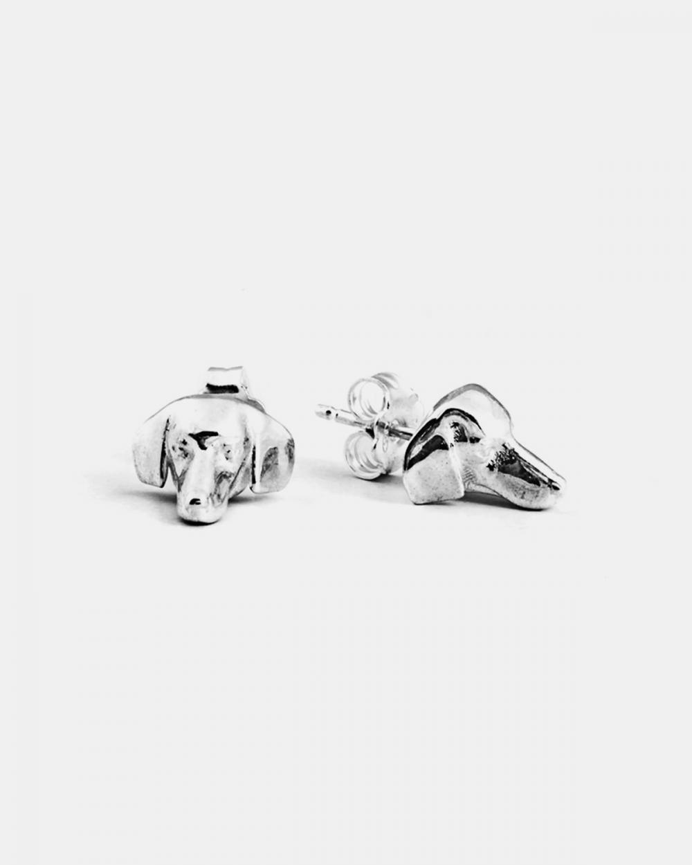Earrings DACHSHUND COUPLE EARRINGS / POLISHED SILVER NOVE25