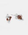 jack russel couple earrings polished silver