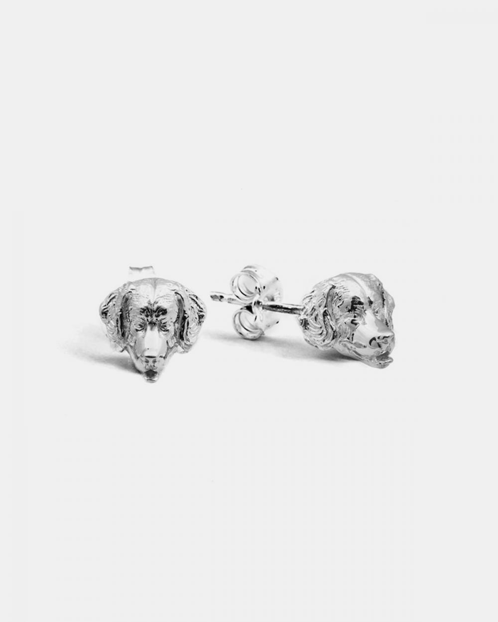 Earrings BERNESE MOUNTAIN DOG COUPLE EARRINGS / POLISHED SILVER NOVE25