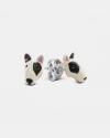 orecchini coppia bull terrier smalto