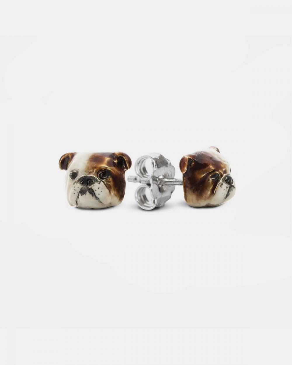 Earrings ENGLISH BULLDOG COUPLE EARRINGS / ENAMELLED NOVE25