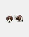 beagle couple earrings enamelled