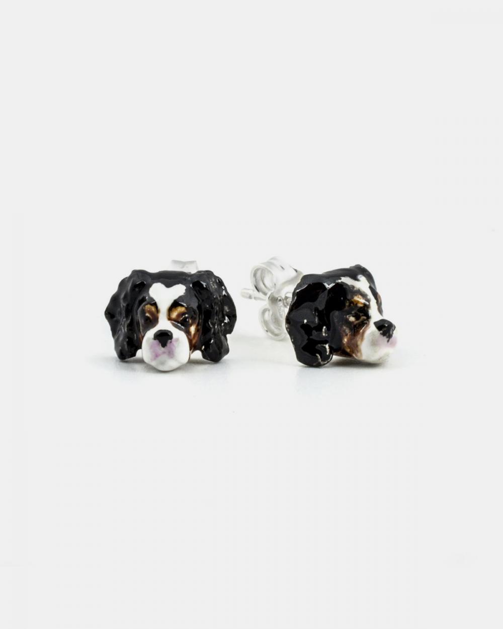 Earrings CAVALIER KING COUPLE EARRINGS / ENAMELLED NOVE25