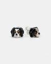 cavalier king couple earrings enamelled