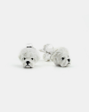 maltese couple earrings enamelled