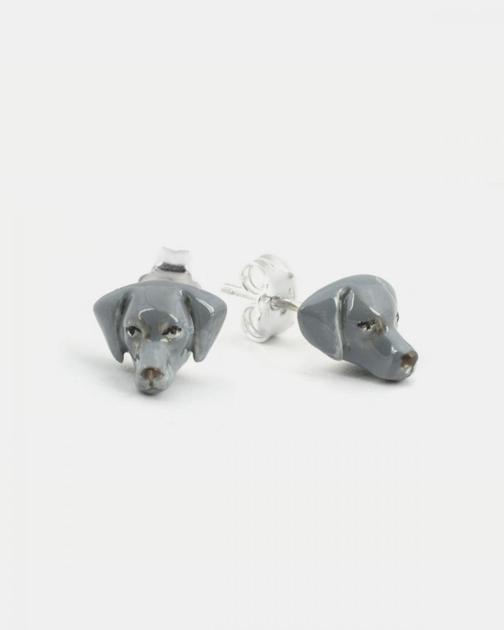 Earrings WEIMARANER COUPLE EARRINGS / ENAMELLED NOVE25