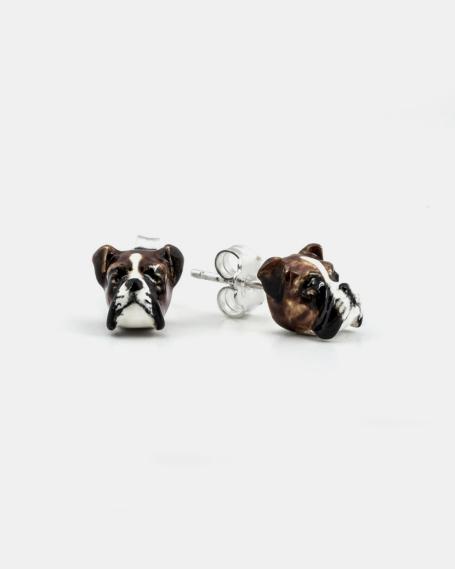 BOXER COUPLE EARRINGS / ENAMELLED