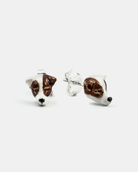 JACK RUSSEL COUPLE EARRINGS / ENAMELLED