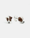 jack russel couple earrings enamelled