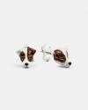 orecchini coppia jack russel smalto