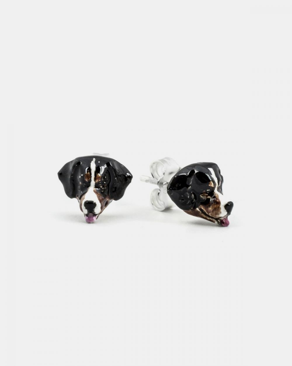 orecchini coppia bovaro del bernese smalto