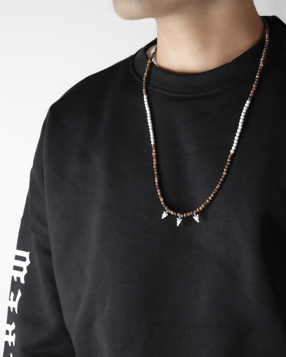 Necklaces WHITE & OCHRE PENDANTS NECKLACE NOVE25