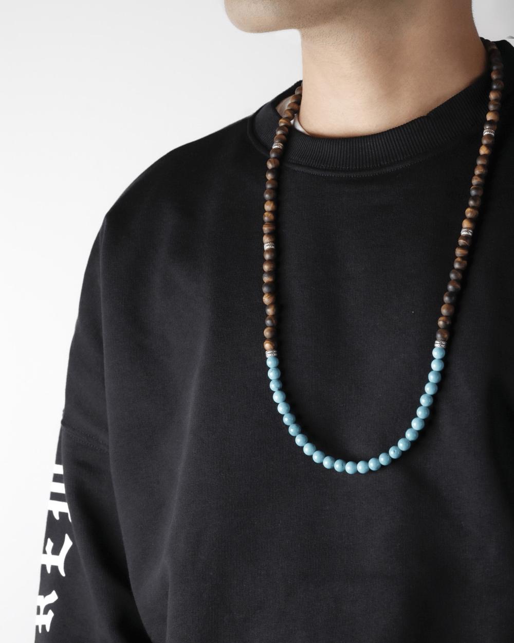 Necklaces BIG OCHRE & TURQUOISE STONES NECKLACE NOVE25