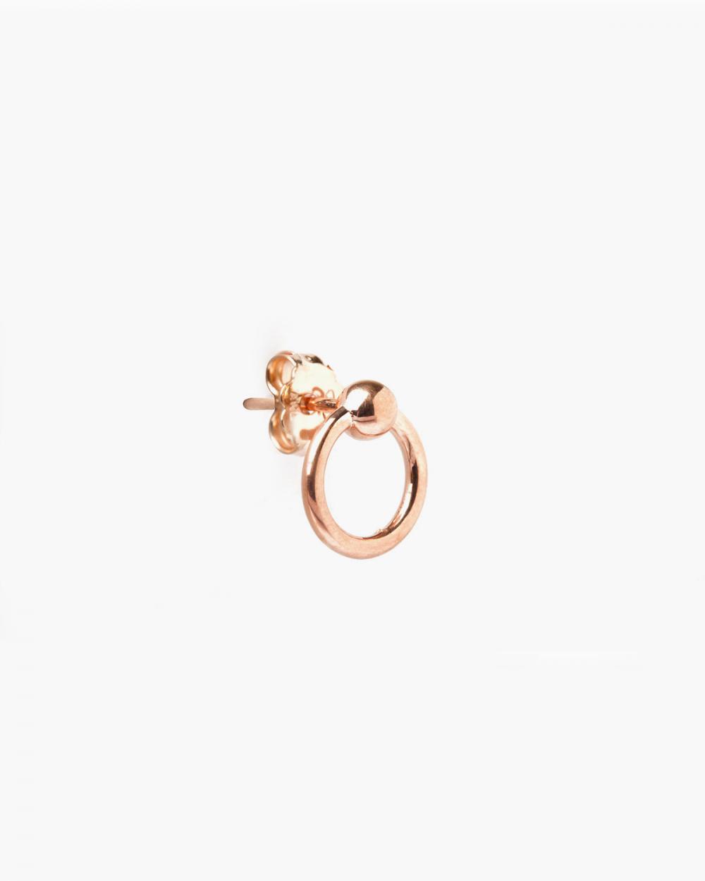 Earrings ROSE GOLD PIERCING SMALL LOBE SINGLE EARRING NOVE25