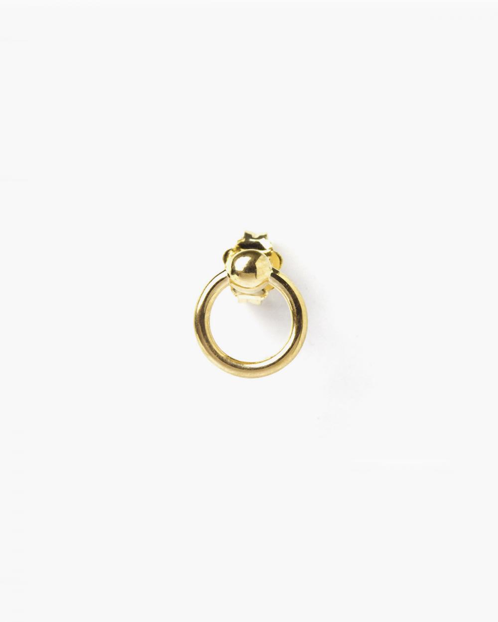 Piercing YELLOW GOLD PIERCING SMALL LOBE SINGLE EARRING NOVE25