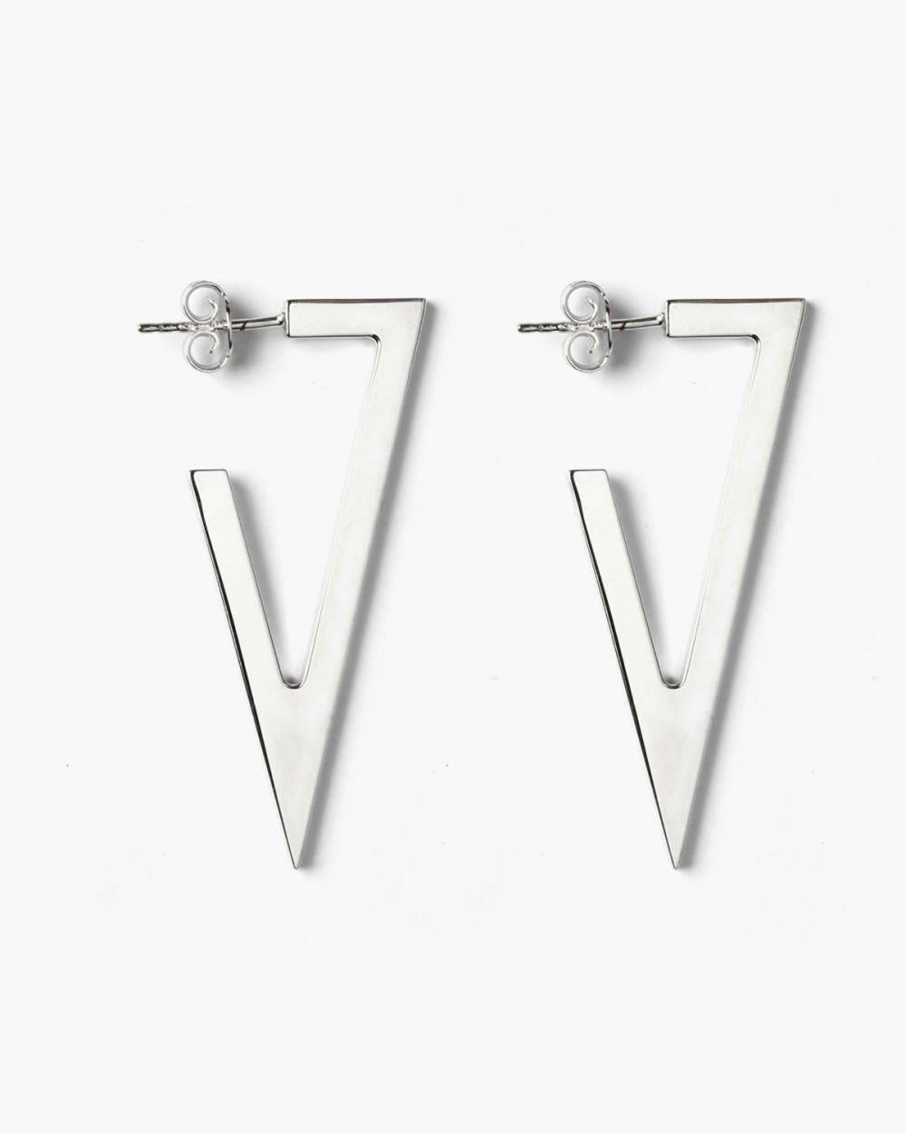 Earrings SILVER TRIANGULAR PLATE BIG EARRINGS NOVE25