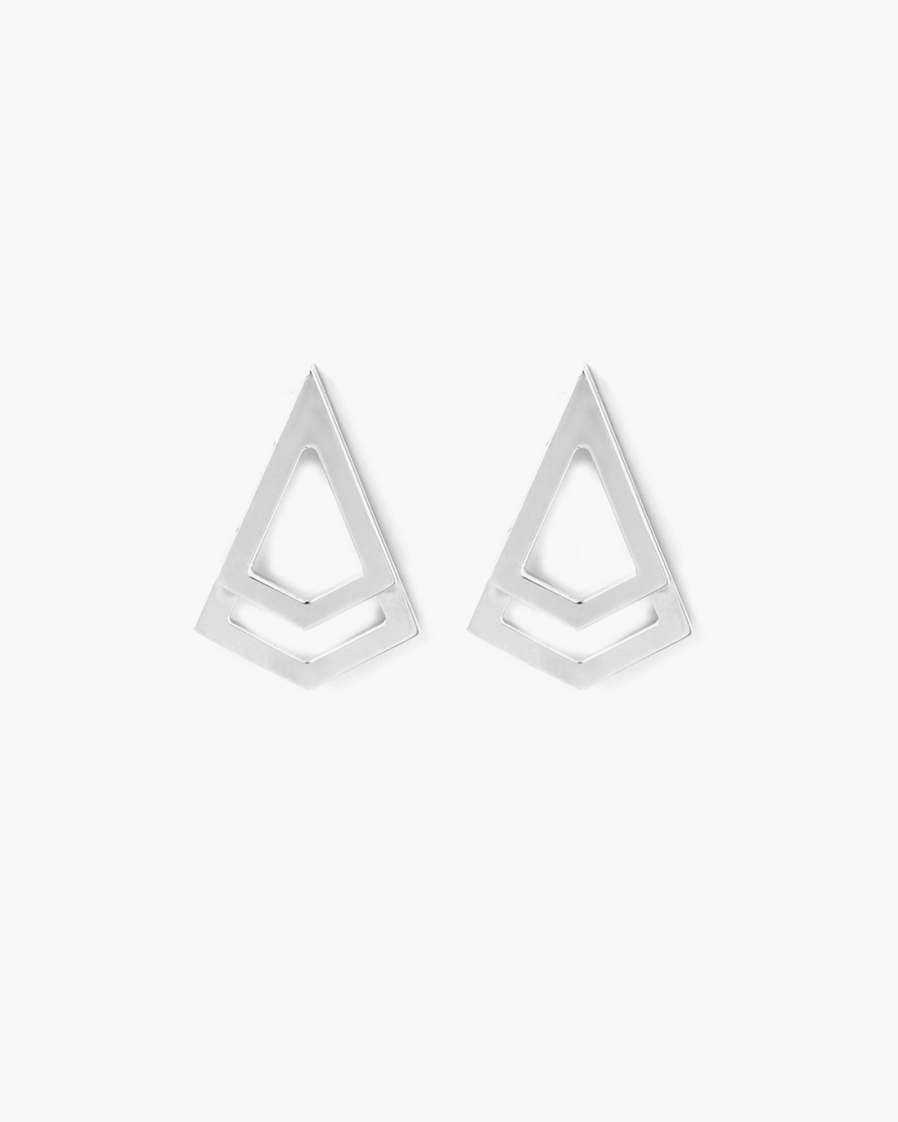 Earrings SILVER DOUBLE POINT EARRINGS NOVE25