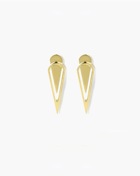 YELLOW GOLD DROP BIG EARRINGS